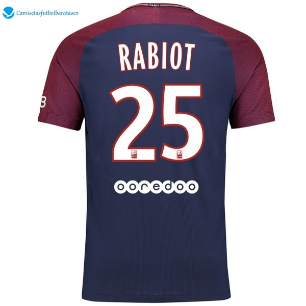 Camiseta Paris Saint Germain Primera Rabiot 2017/2018